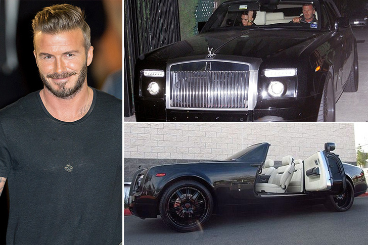 David Beckham – Roll Royce Phantom Drophead Coupe Estimated 400K