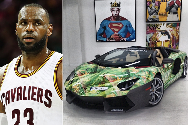 LeBron James – Lamborghini Aventador Roadster Estimated 400K