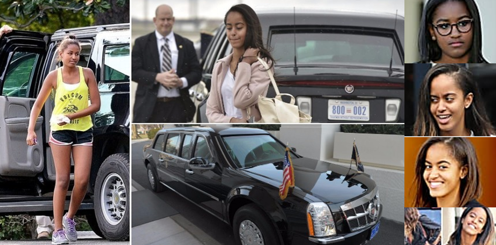 "Malia And Sasha Obama – ""The Beast"" Or ""Limousine One"" Estimated 1.5M..."