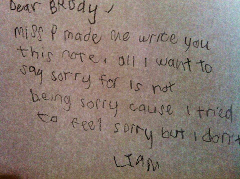 Not Sure Hes Sorry