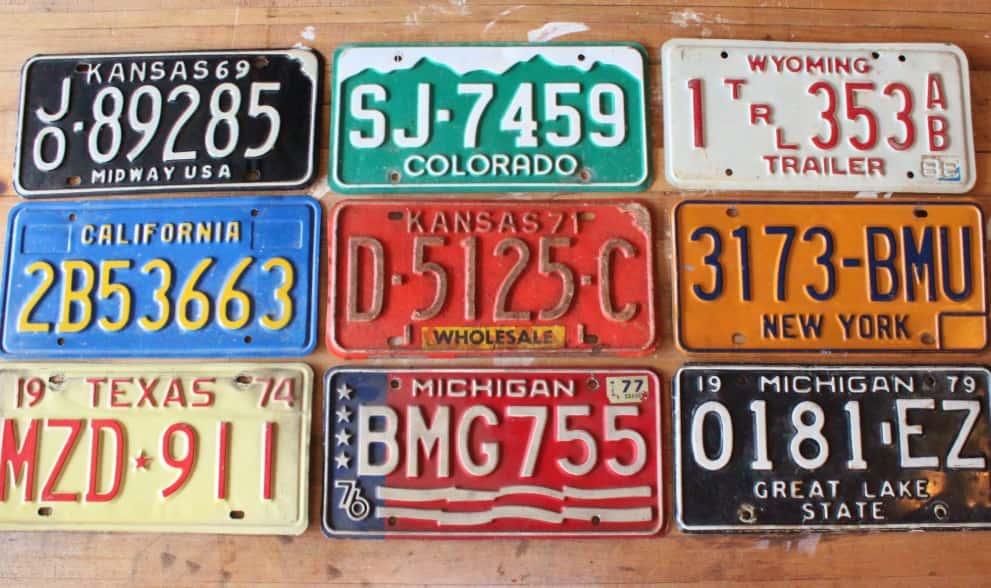 Shining License Plates